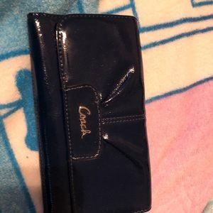 Navy Blue coach wallet